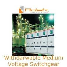 withdrawable medium voltage switchgear